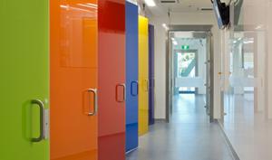 Glass Door, Toughened Glass, Stainless Steel, Hospital Door, Cleanroom Door, Clean room Door, NHS Door, Tempered Glass Door, Maglock, APR Door,