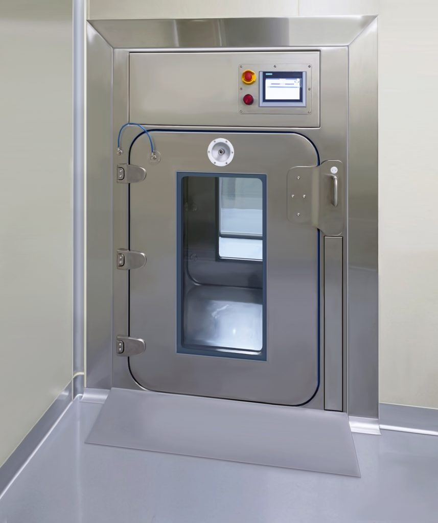 Decontamination, Decontamination Chamber, MD-Ci, Log6, Log 6, disinfection, Chamber, BSL4, High Containment, Pharmaceutical, Healthcare, Medical Research Bio-Pharmaceutical. Containment, Biomedical, Material Decontamination, Decontamination MAL, MAL, VHP Chamber, Chlorine Dioxide Decontamination, High Level Disinfection, H202, Decon Chamber, Biopharma, Bioquell, HPV, Steris , Decon Hatch, Decontamination Hatch